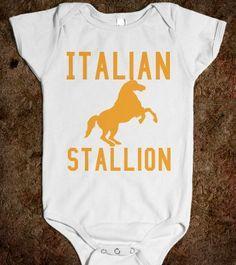 Italian Stallion Baby by CaliforniaTee on Etsy, $22.00