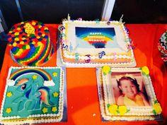 My Little pony Rainbow Dash birthday cake and Jello Rainbow Dash Birthday, Jello, My Little Pony, Birthday Cake, Diy Crafts, Gelatin, Birthday Cakes, Homemade, Crafts