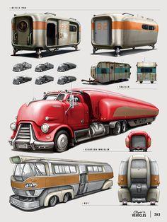 The Art of Fallout 4 - /// Vault 13 Fallout Concept Art, Fallout Art, Deco Gamer, Carros Vw, Colani, Futuristic Cars, Car Sketch, Car Drawings, Automotive Art
