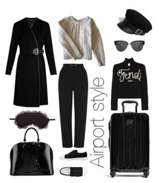 """Untitled #44"" by sherasnow ❤ liked on Polyvore featuring Louis Vuitton, Topshop, River Island, Tumi, Acne Studios, Anine Bing, Fendi and Chelsea28"