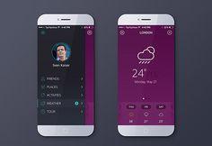 Free weather app PSD