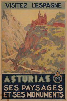 Visitez l'Espagne - Asturias, ses paysages et ses monuments - 1930's - (Vaquero)