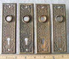 Antique Victorian Door Plates, So Beautiful