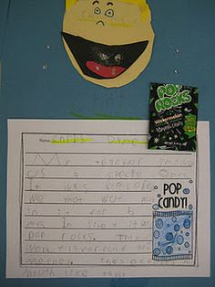 Pop Rocks - Adjective writing activity - what a fun way to get my students to use descriptive words!