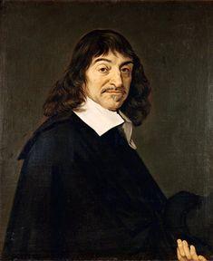 rené descartes.-> rené descartes is geboren op 31 maart 1596 in La Haye en Touraine en is gestorven op 11 februari 1650 in Stockholm -> rené descartes had rijke ouders, hij behoorde niet tot de adel maar wel tot de de bourgeoisie -> hij twijfelde aan alles, hij vond dat twijfel het begin punt van de wetenschap is. -> 'cogito ergo sum' = ik denk dus ik ben.