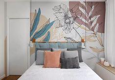 Bedroom Colour Schemes Neutral, Bedroom Colors, Bedroom Decor, Creative Wall Painting, Wall Painting Decor, Wall Decor, Ikea Art, Wall Paint Patterns, Living Room Murals
