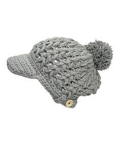 Look at this #zulilyfind! Gray Newsboy Beanie by B&B Couture #zulilyfinds
