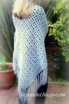 Spider Stitch Shawl Free Pattern