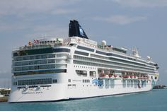 The Norwegian Dawn, docked at Kings Wharf. For 2012, the Dawn cruises to Bermuda out of Boston.