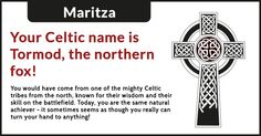 What is your Celtic name?