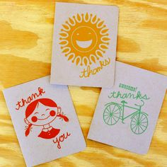 Summer Fun Thank You Cards 12 Pk design inspiration on Fab....so cute..now if only I could find a place to buy them..