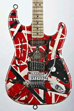 Eddie Van Halen's Frankenstein guitar. Made by Lynn Ellsworth, Boogie Body Guitars.