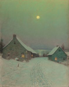 Birge Harrison (1854-1929)  Christmas Eve