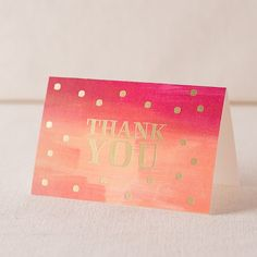 Horizon Thank You digital watercolor + gold foil cards » Smock.