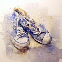 Bleu shoes - © 2011 Pascal Pihen -  Painting Online Artworks