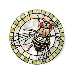 Drosophila Classic Round Sticker