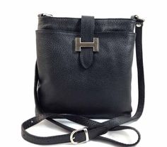 Helena - Womens Black Genuine Italian Leather Shoulder Bag gvgbags.com (Love me a new purse...)