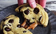 Super Gooey Salted Caramel Chocolate Chip Cookies
