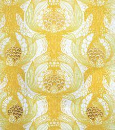 Havstulpan Yellow Mairo fabric available at The Swedish Fabric Company