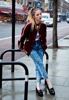 Vintage burgundy wool varsity jacket £75