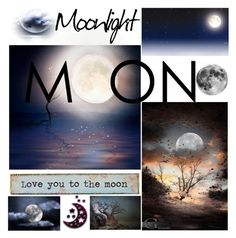 """MOON"" by grozdana-v ❤ liked on Polyvore featuring art"