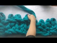 How to arm/hand knit Basket weave pattern with super chunky vegan yarn with BeCozi - YouTube