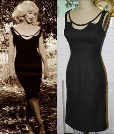 Custom made movie/tv clothing, for example, the Marilyn Monroe Misfits Dress- Black- LBD-Custom Sized