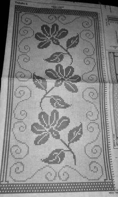 Love Crochet, Crochet Lace, Cross Stitch Designs, Cross Stitch Patterns, Rustic Table Runners, Filet Crochet Charts, Bargello, Brick Stitch, Cross Stitch Embroidery