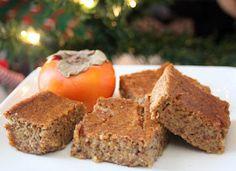 Hoopfinity's Happenings: Healthy Holiday Recipes: Pumpkin Persimmon Pudding Bars
