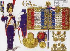Stendardo del 1 rgt. granatieri della guardia imperiale
