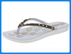 Beppi 2121911 Damen Zehentrenner Sommerschuhe Badelatschen (weiß, 37) - Zehentrenner für frauen (*Partner-Link)