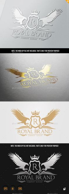 Eagle Royal Brand — Vector EPS #property #boutique • Available here → https://graphicriver.net/item/eagle-royal-brand-/10091702?ref=pxcr