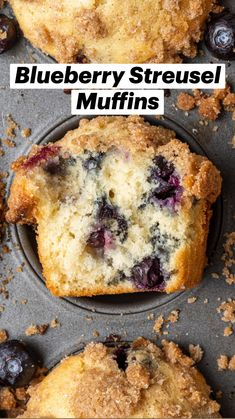 Blueberry Streusel Muffins, Blue Berry Muffins, Recipe For Blueberry Muffins, Blueberry Breakfast Recipes, Healthy Blueberry Desserts, Healthy Blueberry Recipes, Blueberries Muffins, Baked Breakfast Recipes, Blackberry Recipes