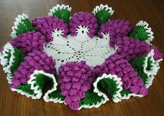 How to DIY Crochet Grape Coaster with Free Pattern1
