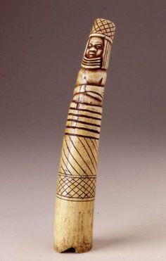 Africa | Side-blown trumpet | Nigeria | 19th Century | Ivory