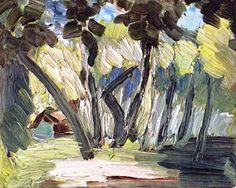 Henri Matisse - Tahiti Landscape, 1931. Oil on canvas, 14 x 18 cm. Private Collection