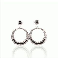 Crystal Rhinestone circle earrings. Crystal rhinestone gold-plated circle earrings. Jewelry Earrings