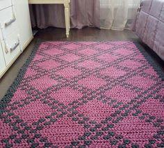 Discount Carpet Runners For Hall Info: 4018612920 Crochet Carpet, Crochet Home, Crochet Doilies, Crochet Yarn, Manta Crochet, Tunisian Crochet, Cost Of Carpet, Rugs On Carpet, Carpets