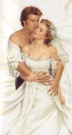 Jon PAUL / Cover Art for Romance; romance novel art; hot men; beautiful women; couples; lovers; romantic; paintings; painting; artist; wedding; marriage; wedding dress; bride and groom