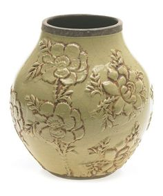 Take a look at this Light Green Round Carmen Vase by Accent Décor on #zulily today!