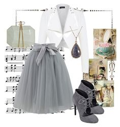 """Untitled #262"" by vagrfd ❤ liked on Polyvore featuring Tee and Cake, Music Notes, Chicwish, Nine West, ADORNIA and Marchesa"
