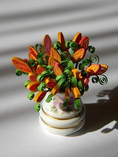 Quilling idea - flowers in a vase