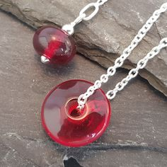 Birthstones in Glass - Verity Necklace Sterling Silver Chains, Birthstones, Washer Necklace, Beads, Simple, Handmade, Jewelry, Design, Beading