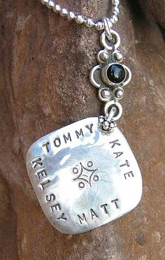 Hand stamped necklace for the moms in my life.