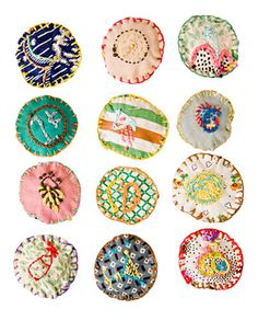 Hillery Rebeka Sporatt made these fabulous embroidered art objects. The sewn pieces below are  small keepsakes and special gifts, meant to be given to those you love.