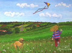 Kite Flying by Tracey Kemp Go Fly A Kite, Kite Flying, Bing Images, Art Gallery, Arts And Crafts, Greeting Cards, Wall Art, Drawings, Kites