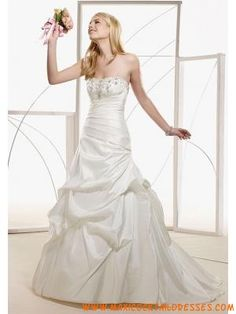 Ball Gown Strapless/ Sweetheart Floor Length Attached Taffet...