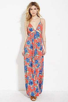Floral Print Maxi Dress | Forever 21 - 2000187046