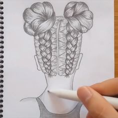 How to draw a girl with DOUBLE BUNS hair - These Double Bun Hairstyles Prove Two Are Better Than One Das schönste Bild für hairstyle long , - 3d Art Drawing, Art Drawings Sketches Simple, Girl Drawing Sketches, Cute Easy Drawings, Girly Drawings, Art Drawings Beautiful, Art Drawings For Kids, Girl Sketch, Pencil Art Drawings
