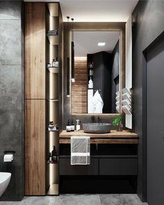 Bathroom Inspiration : BetonindesignThe Definitive Source for Interior Designers Washroom Design, Toilet Design, Bathroom Design Luxury, Modern Bathroom Design, Diy Bathroom Decor, Bathroom Colors, Small Bathroom, Japan Bathroom, Warm Bathroom